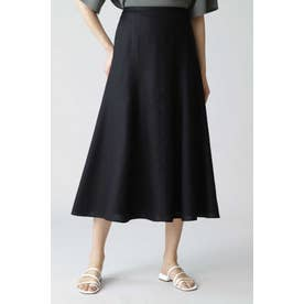 ◆《B ability》麻調スラブセットアップスカート ブラック