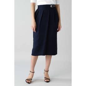 ◆麻調セットアップスカート ネイビー
