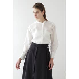 ◆ボイルピンタックシャツ ホワイト