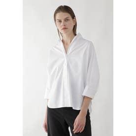 ◆スタンドカラーシャツ ホワイト