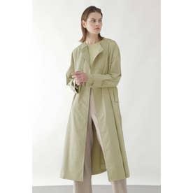◆ノーカラーコート 薄グリーン1