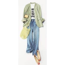 ◆ロングジャケット 薄グリーン