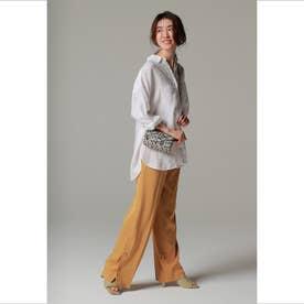 ◆裾タイドパンツ イエロー