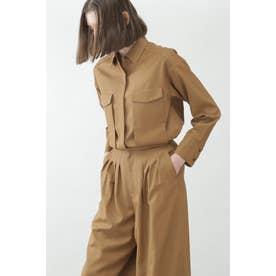 ◆T/Wチンツセットアップシャツ ブラウン