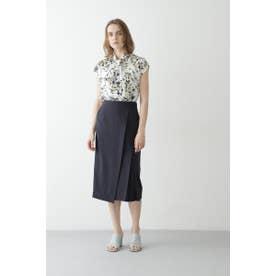 ◆リネンライクセットアップスカート ネイビー