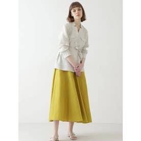 ◆ソフトリネンセットアップスカート イエロー