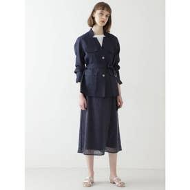 ◆リーフレーススカート ブルー