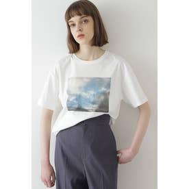 グラフィックプリントTシャツ 白