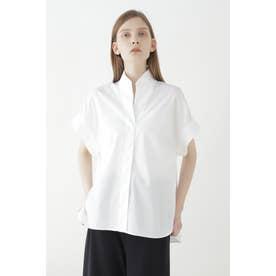 スタンドハーフスリーブシャツ ホワイト