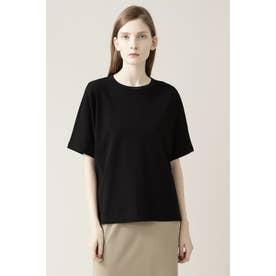 ◆ニットリブTシャツ ブラック
