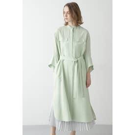 ロングシャツ羽織 ライトグリーン