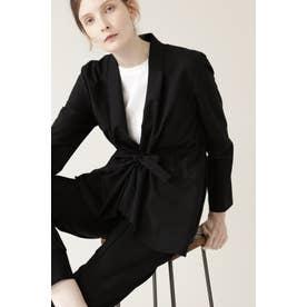 ◆梳毛ウールセットアップジャケット ブラック