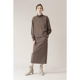 ◆ダンボールニットコンビセットアップスカート ブラウン