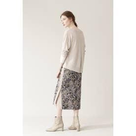 ◆ジャガードタイトスカート ベージュ1