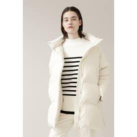 ◆シャイニータフタミドルダウンコート ホワイト