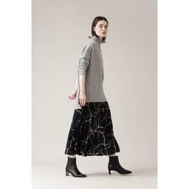 ◆チェーンベルトプリントスカート ネイビー1