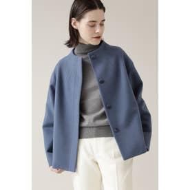 ◆ボトルネックウールジャケット ブルー