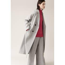 ◆ダブルロングウールコート グレー