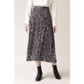 ◆デニスドットプリントスカート ネイビー1