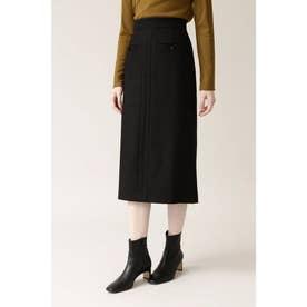 ◆PE/Wストレッチサキソニースカート ブラック