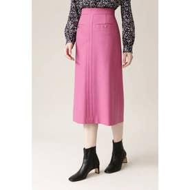 ◆PE/Wストレッチサキソニースカート ピンク