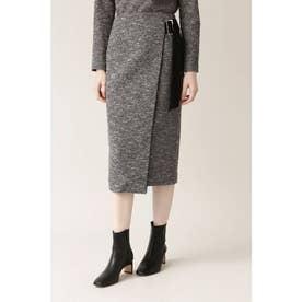 ◆イージーツイードセットアップスカート ブラック