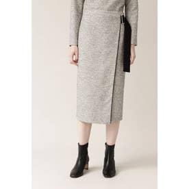 ◆イージーツイードセットアップスカート ホワイト