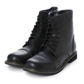 SFW 様々なスタイルに取り入れやすいトゥーキャップ8ホールサイドジップブーツブーツ/8025 (ブラック)