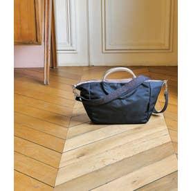 サテンナイロン 2wayバッグ「ポジターノ」 (ブラック*ゴールド)