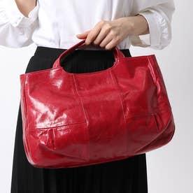 フランス製レザー2wayバッグ「ブリジット」 (コーラルルージュ)