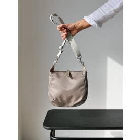 フランス製 ナイロンショルダーバッグ「ハッティー」 (グレージュ)