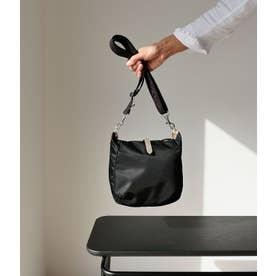 フランス製 ナイロンショルダーバッグ「ハッティー」 (ブラック)