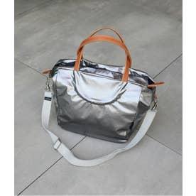 フランス製メタリックカラー2WAYバッグ「フェイム」 (チタニウム)