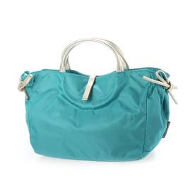 フランス製ナイロンハンドバッグ「コモ (アクアマリン*ゴールド)