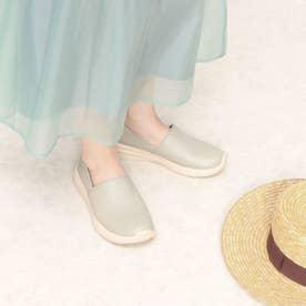【Walk】レザーウォーキングスリッポン (グレー)