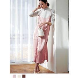 サテンキャミドレス (ニュアンスピンク)