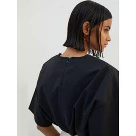 シャツ生地Tシャツ (ブラック)