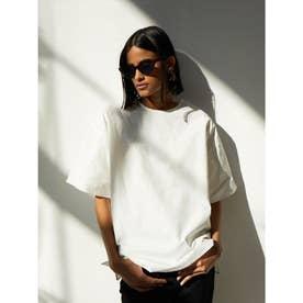 シャツ生地Tシャツ (ホワイト)