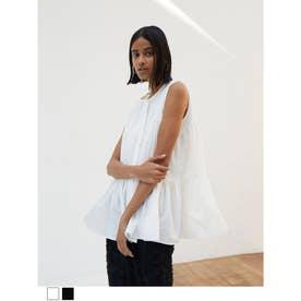 ヘムフリルタンクシャツ (ホワイト)