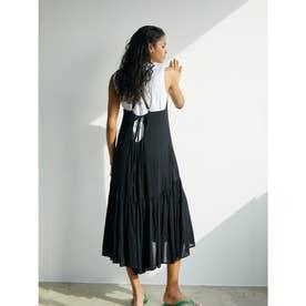 バックデザイン楊柳サマードレス (ブラック)