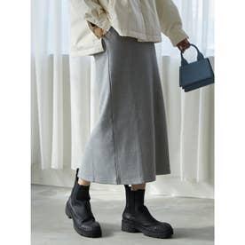 ポンチロングタイトスカート (ヘザーグレー)