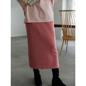 ポンチロングタイトスカート (アプリコットピンク)