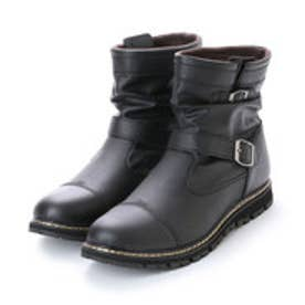 ブーツ メンズ 4cm防水エンジニアブーツ (BLACK)