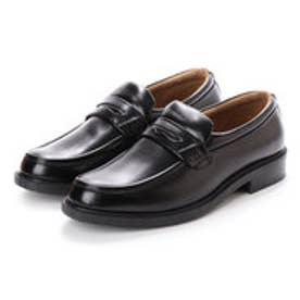 ビジネスシューズ メンズ 防水コインローファー 紳士靴 (BLACK)