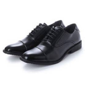 ビジネスシューズ メンズ 4cm4時間防水機能付き 紳士靴(ストレートチップ) (BLACK)