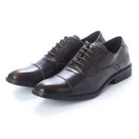 ビジネスシューズ メンズ 4cm4時間防水機能付き 紳士靴(ストレートチップ) (D.BROWN)