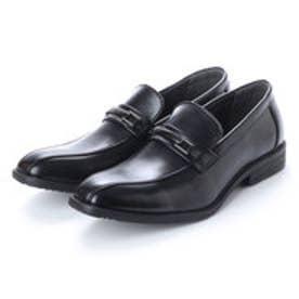ビジネスシューズ メンズ 4cm4時間防水機能付き 紳士靴(ビット) (BLACK)