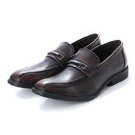 ビジネスシューズ メンズ 4cm4時間防水機能付き 紳士靴(ビット)(D.BROWN)