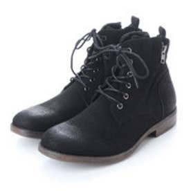 ブーツ メンズ サイドジップレースアップブーツ (BLACK/S)
