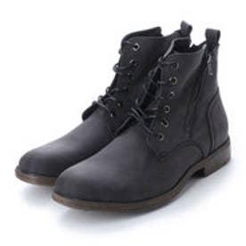 ブーツ メンズ サイドジップレースアップブーツ (BLACK/N)